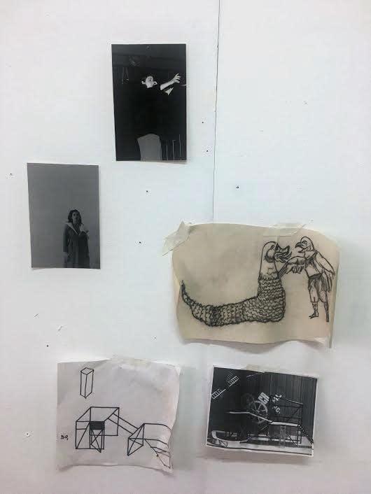 Ana Mazzei's studio, 2019