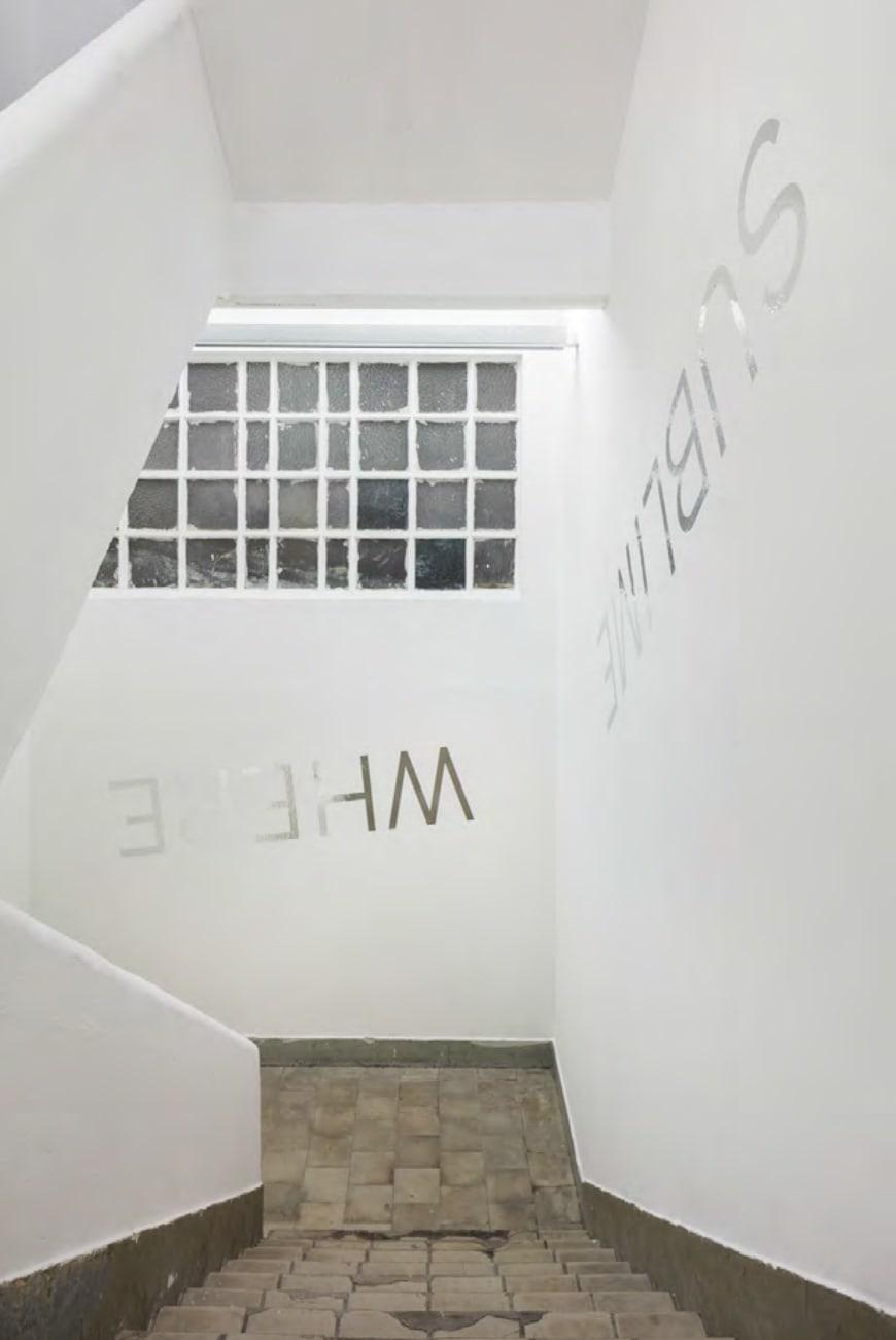 Robert Barry, exhibition view at Galeria Jaqueline Martins, 2019