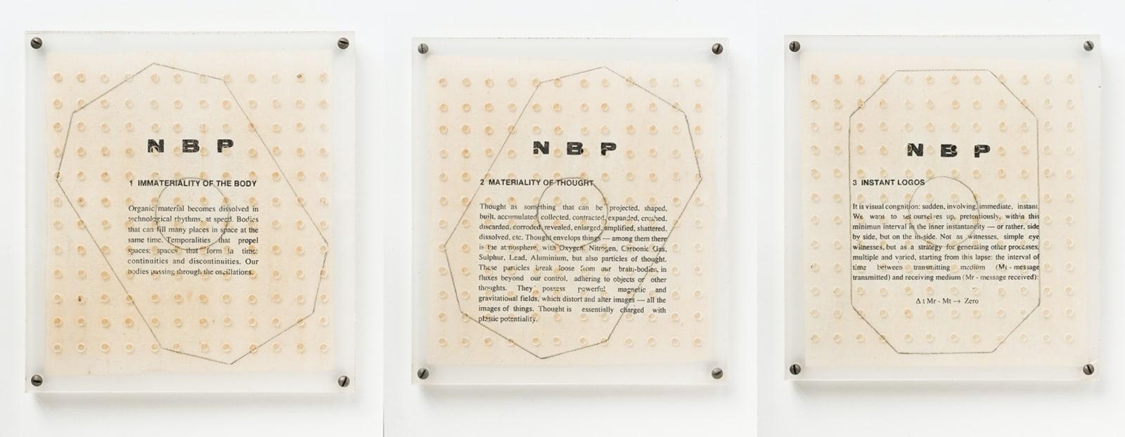 Ricardo Basbaum, NBP - New Bases for Personality, 1991