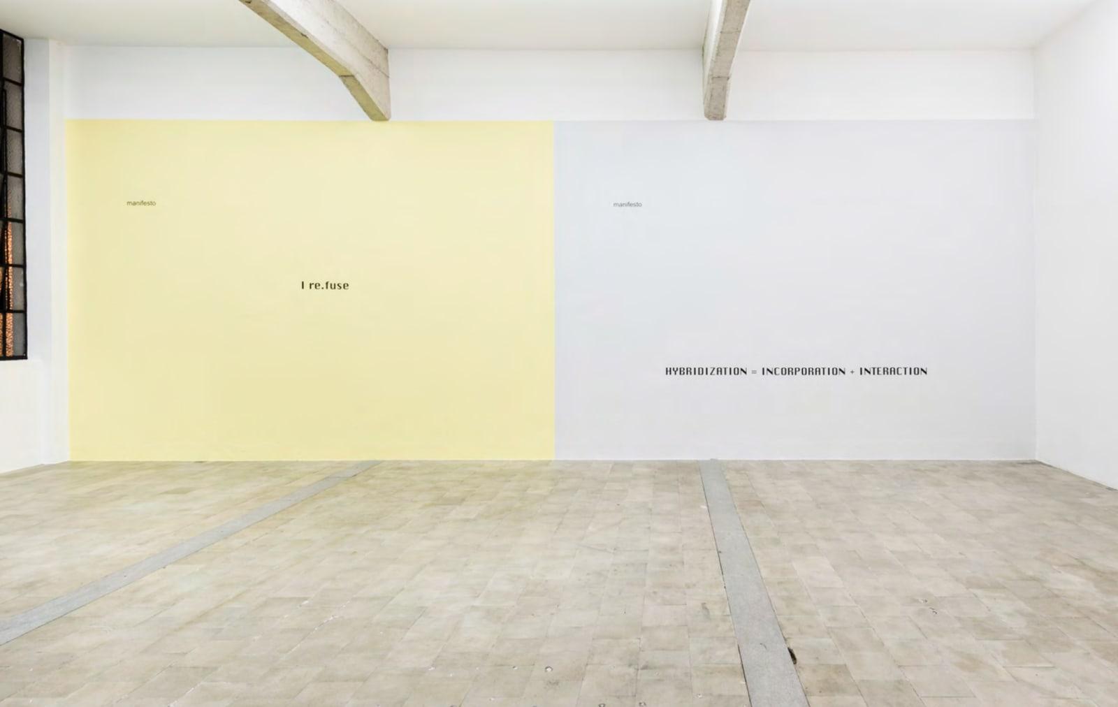 Ricardo Basbaum, 4 Manifests, 1996 On view at Galeria Jaqueline Martins, São Paulo, 2017