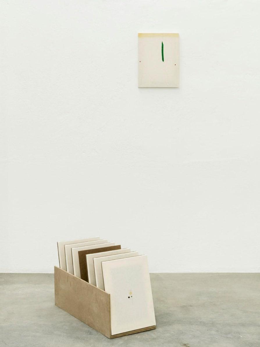 Riccardo Baruzzi, Il porta pittura del dritto con una rovesciata, 2017