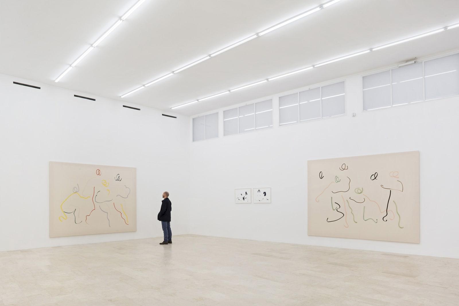 Del disegno disposto alla pintura, exhibition view at P420, Bologna, 2016
