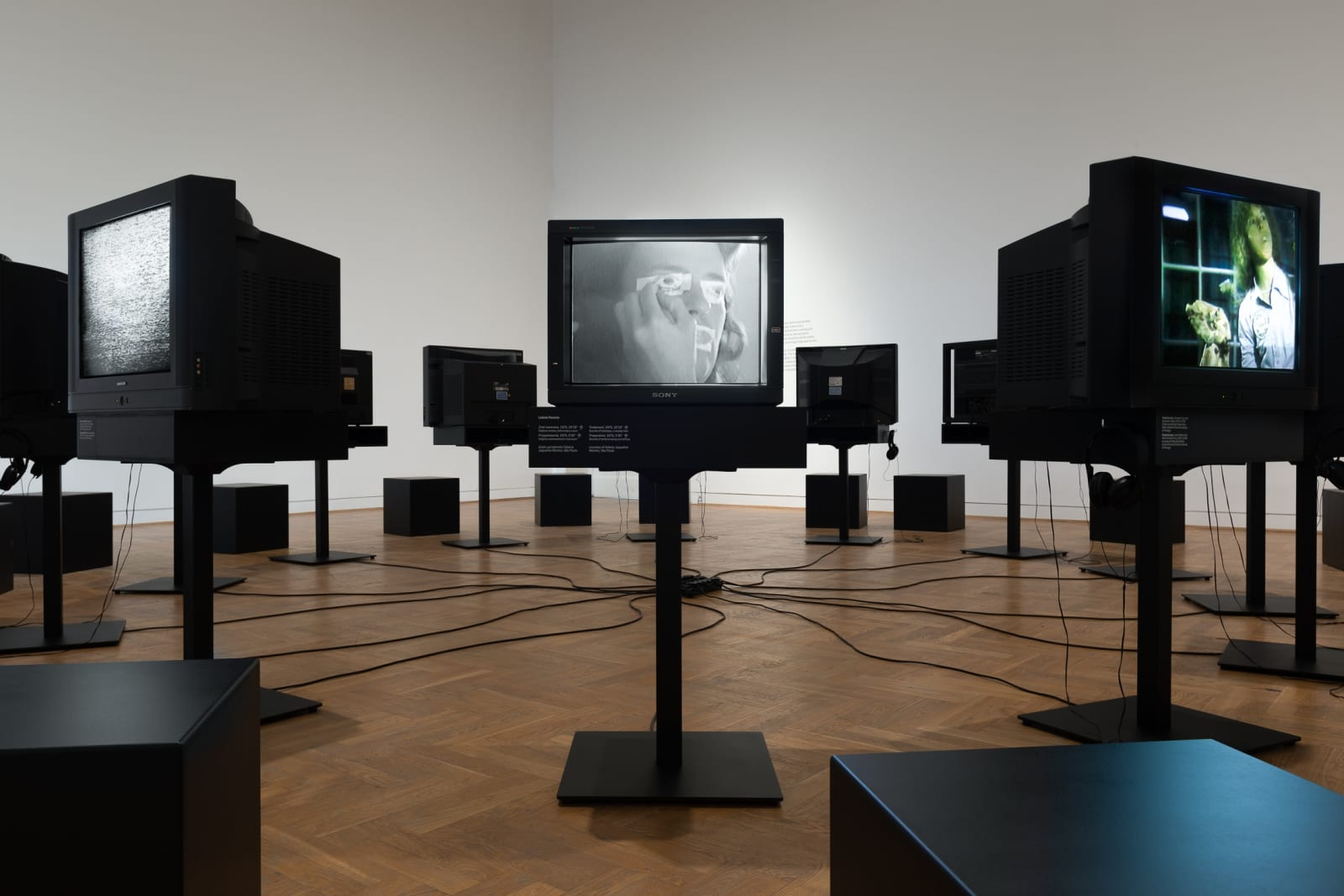 Exhibition view: Videotapes. Early Video Art (1965–1976) at the Zachęta National Gallery of Art (Warsaw, Poland)