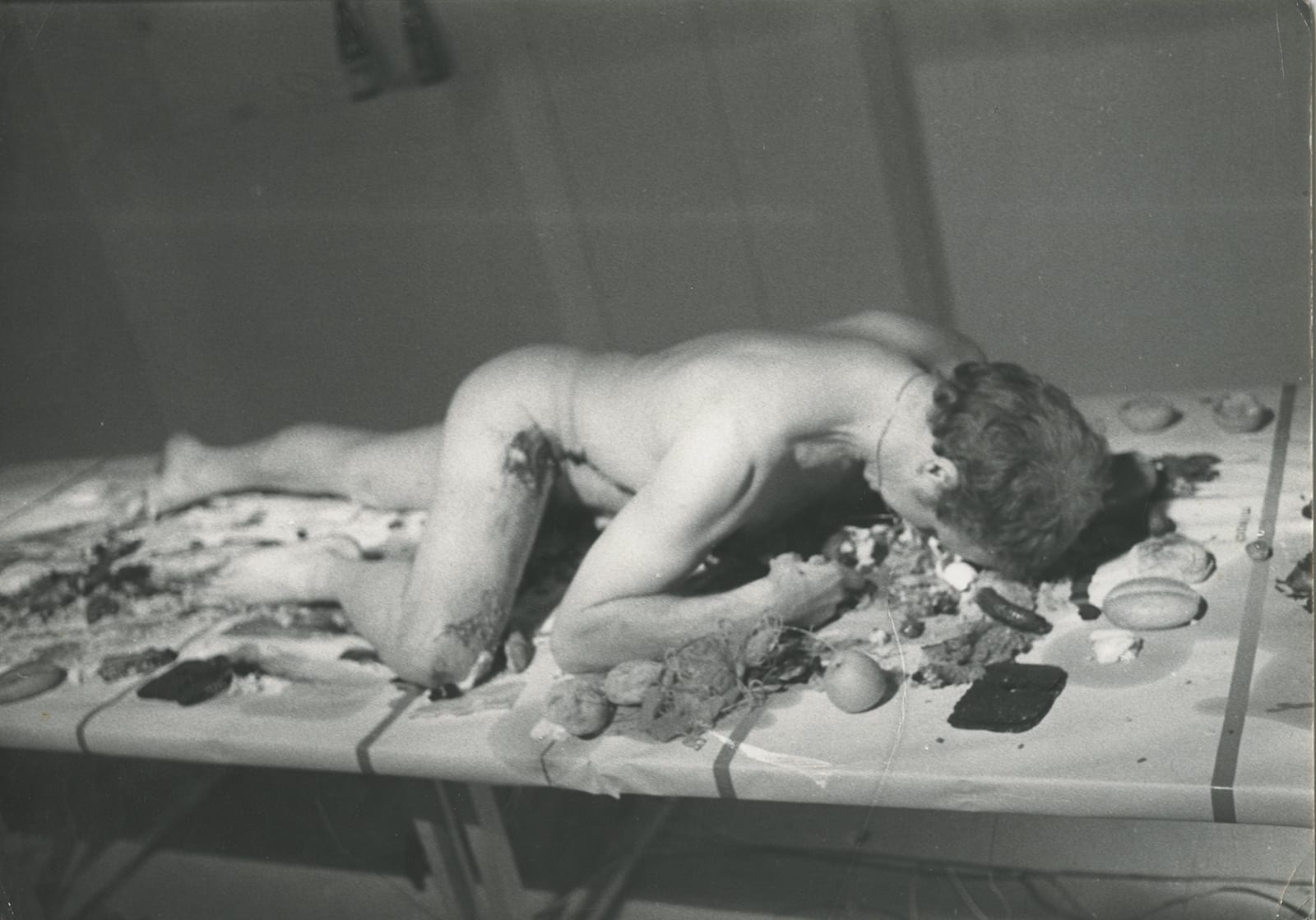 Stuart Brisley, 10 Days, 1973 performance documentation