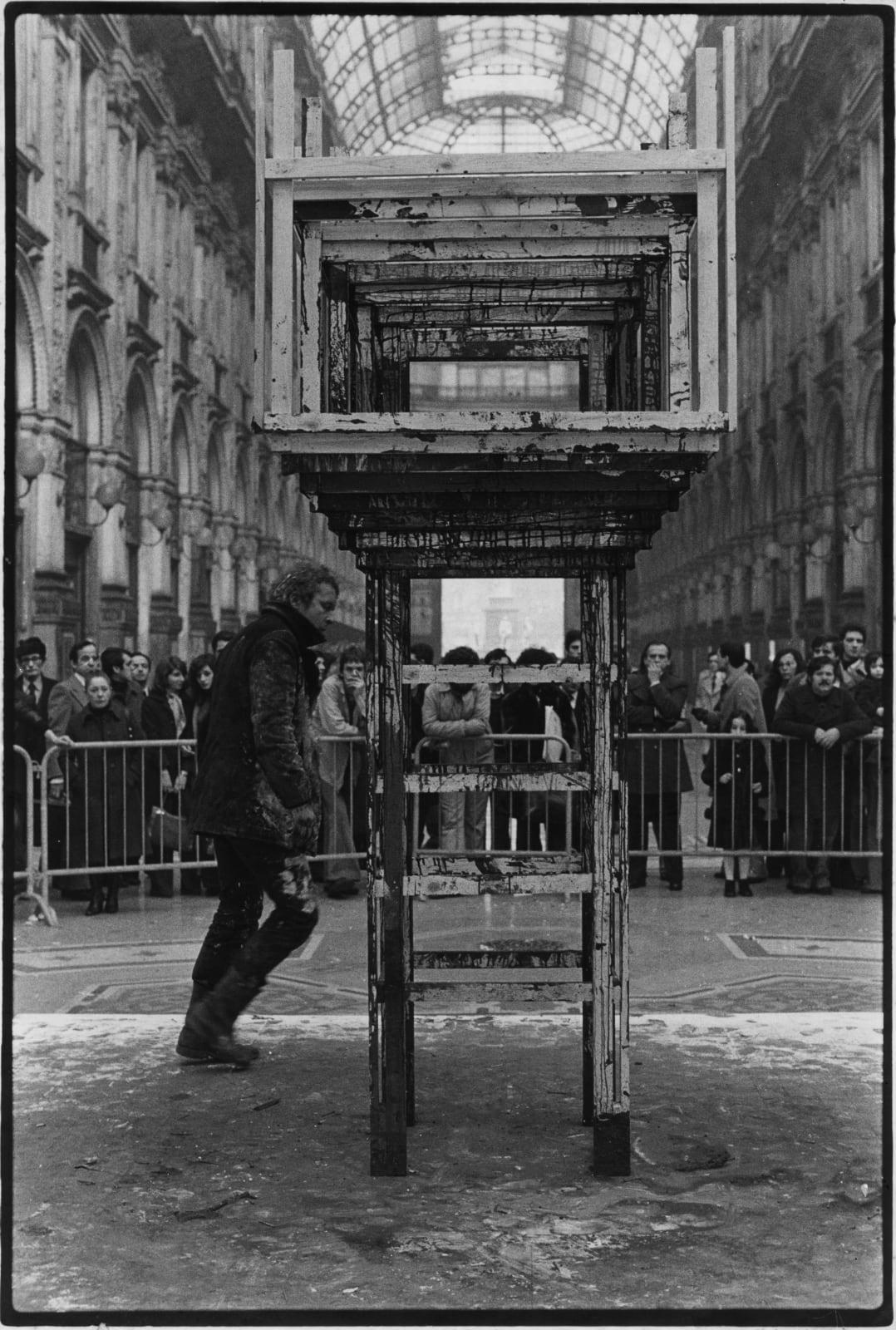 Stuart Brisley, Homage to the Commune, 1976 performance documentation