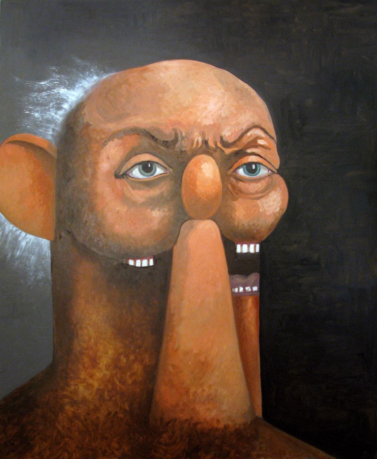 George Condo Old Man Portrait 2011 oil on canvas 90 x 74 inches 228.6 x 188 cm