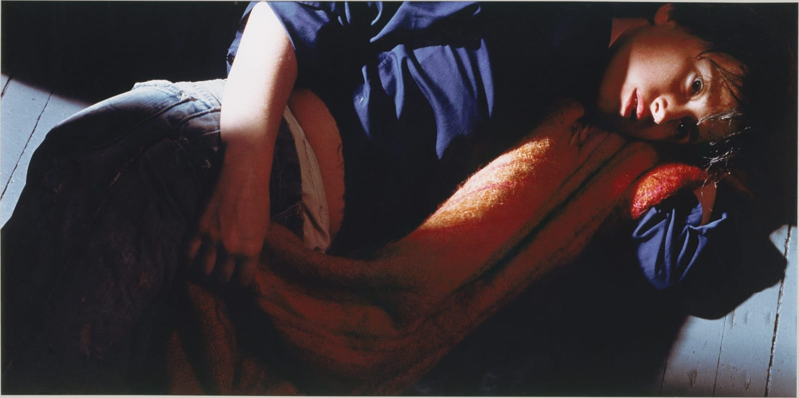 Cindy Sherman Untitled #87 from the Centerfolds series 1981 color photograph 24 x 48 inches 61 x 121.9 cm Edition 6 of 10 More Info