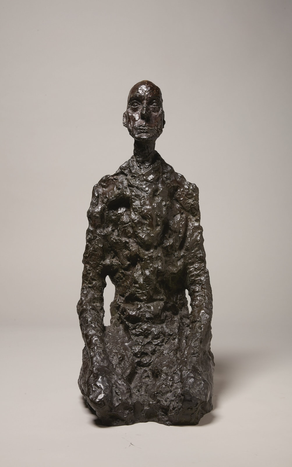 Alberto Giacometti Buste d'homme assis (Lotar III) conceived in 1956-66; this example cast in 1973 bronze 13.5 x 10 x 25 1/8 inches 34.3 x 25.4 x 63.8 cm More Info