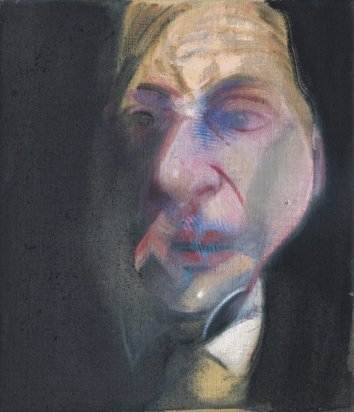 Francis Bacon Study for Self Portrait 1979 oil on canvas 14 x 12 inches 35.6 x 30.5 cm More Info