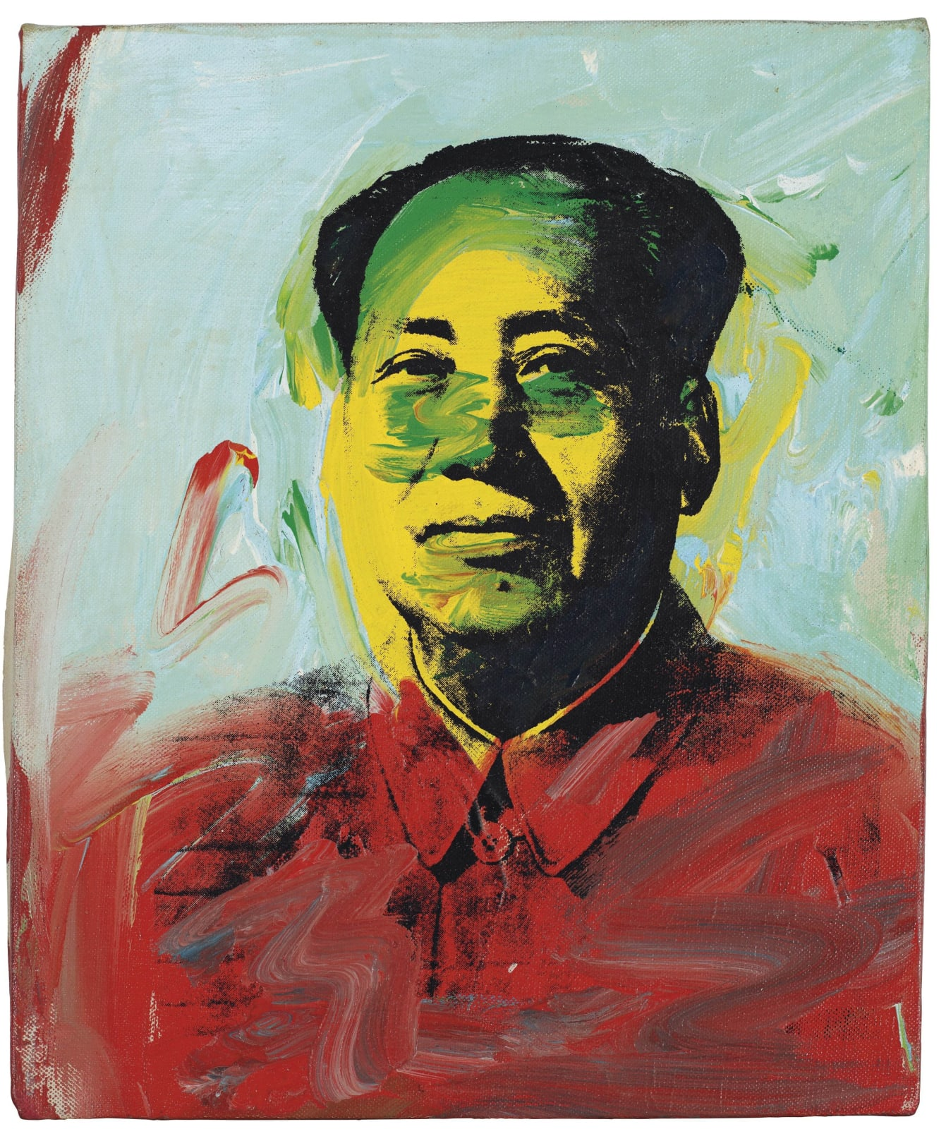 Andy Warhol Mao 1973 acrylic and silkscreen ink on canvas 12 1/8 x 10 1/8 inches 30.8 x 25.7 cm © The Andy Warhol Foundation for the Visual Arts More Info