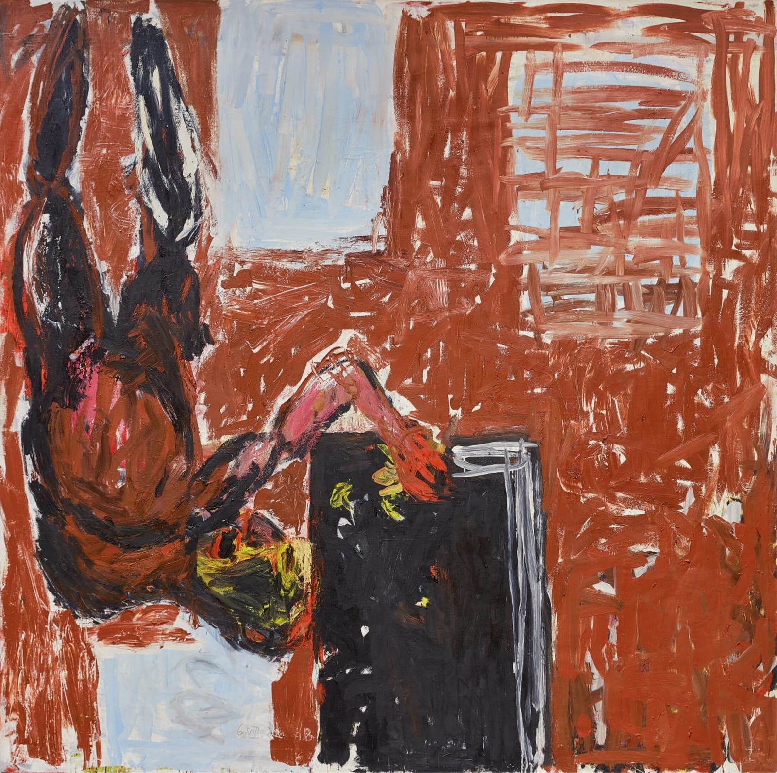 Georg Baselitz Stars in the Window (Sterne im Fenster) 1982 oil on canvas 98 3/8 x 98 3/8 inches 249.9 x 249.9 cm