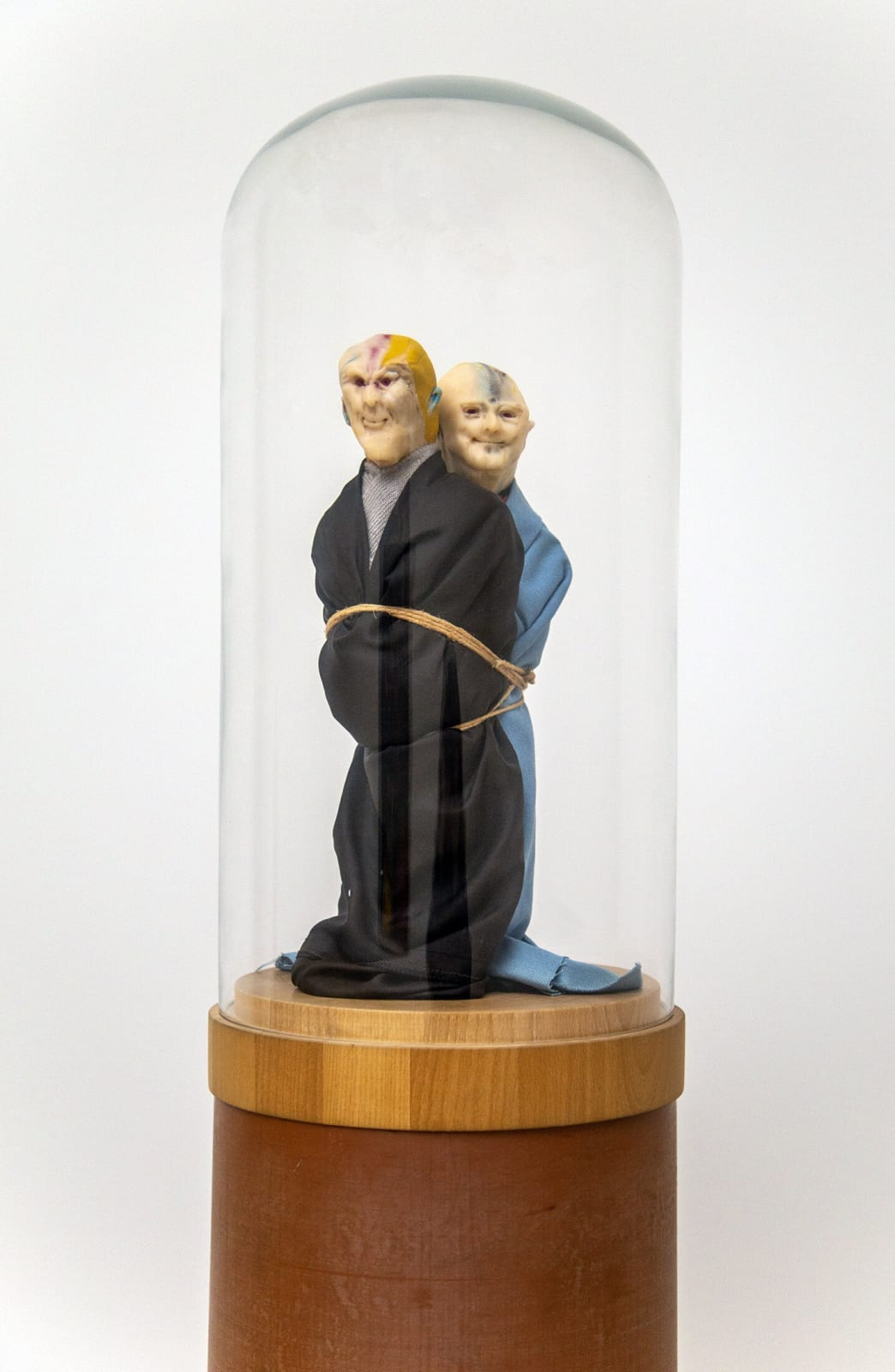 Thomas Schütte United Enemies 1994-1995 fimo, fabric, wood, glass and PVC 73 1/2 x 10 x 10 inches 186.7 x 25.4 x 25.4 cm More Info