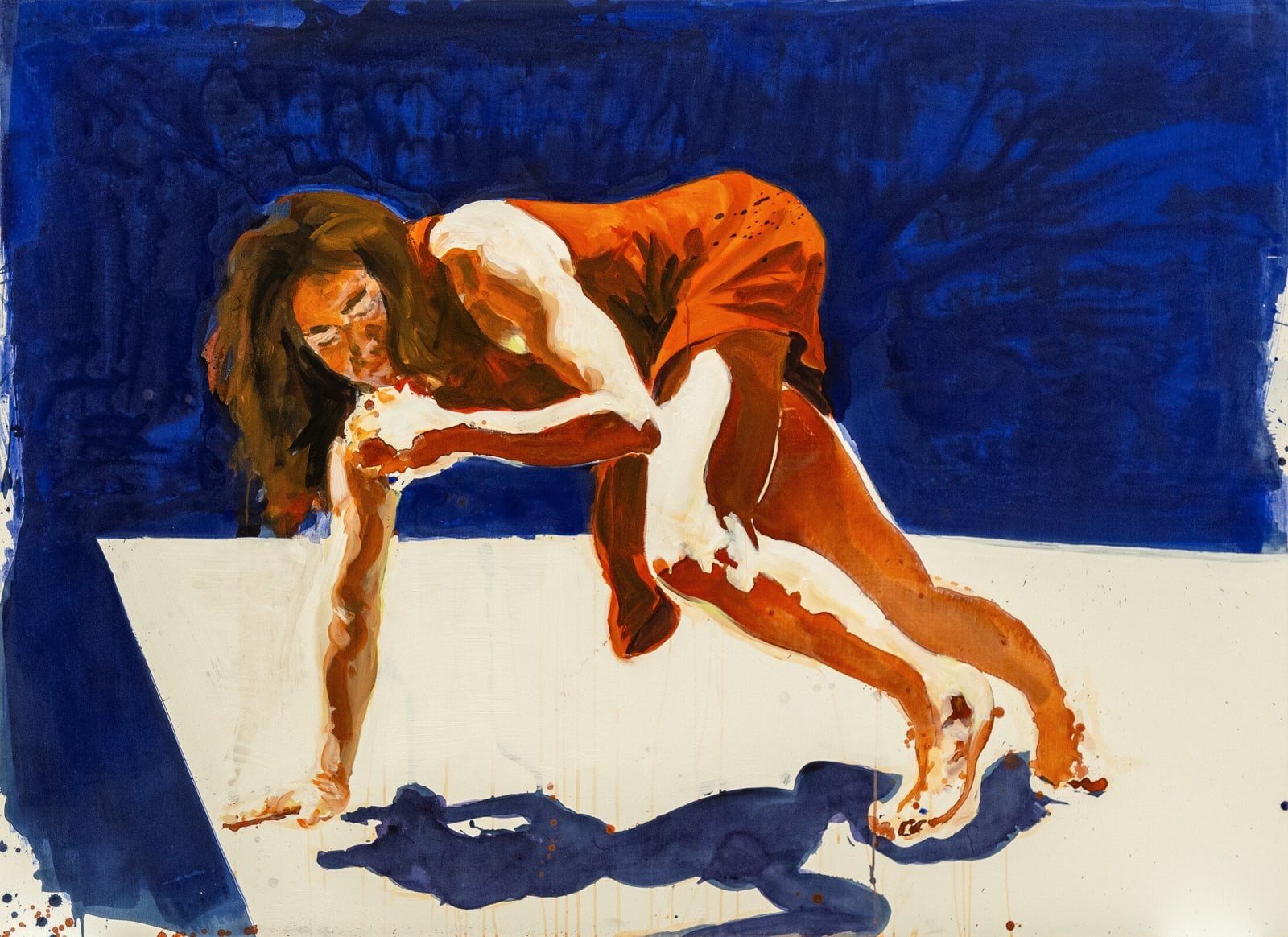 Eric Fischl Shadow Puppet 2021 acrylic on linen 54 x 74 inches 137.2 x 188 cm More Info