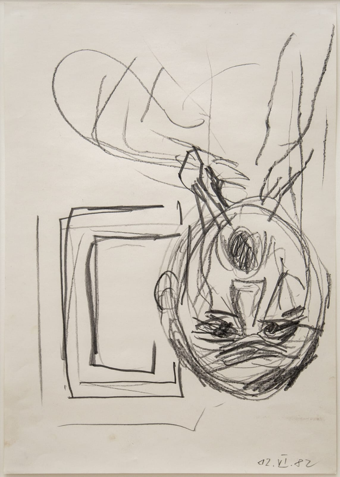 Georg Baselitz Untitled (View Out of the Window) 1982 pencil on paper 24 x 17 inches 61 x 43.2 cm More Info