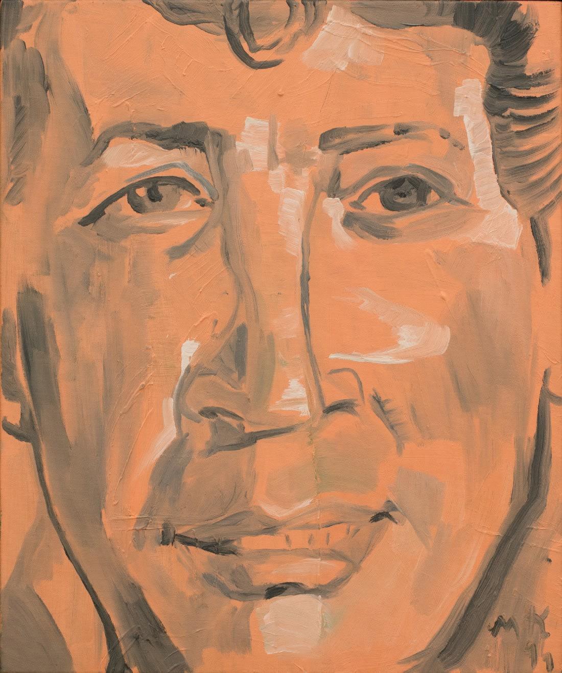 Martin Kippenberger Portrait Dean Martin 1994 oil on canvas 24 x 20 inches 61 x 50.8 cm More Info