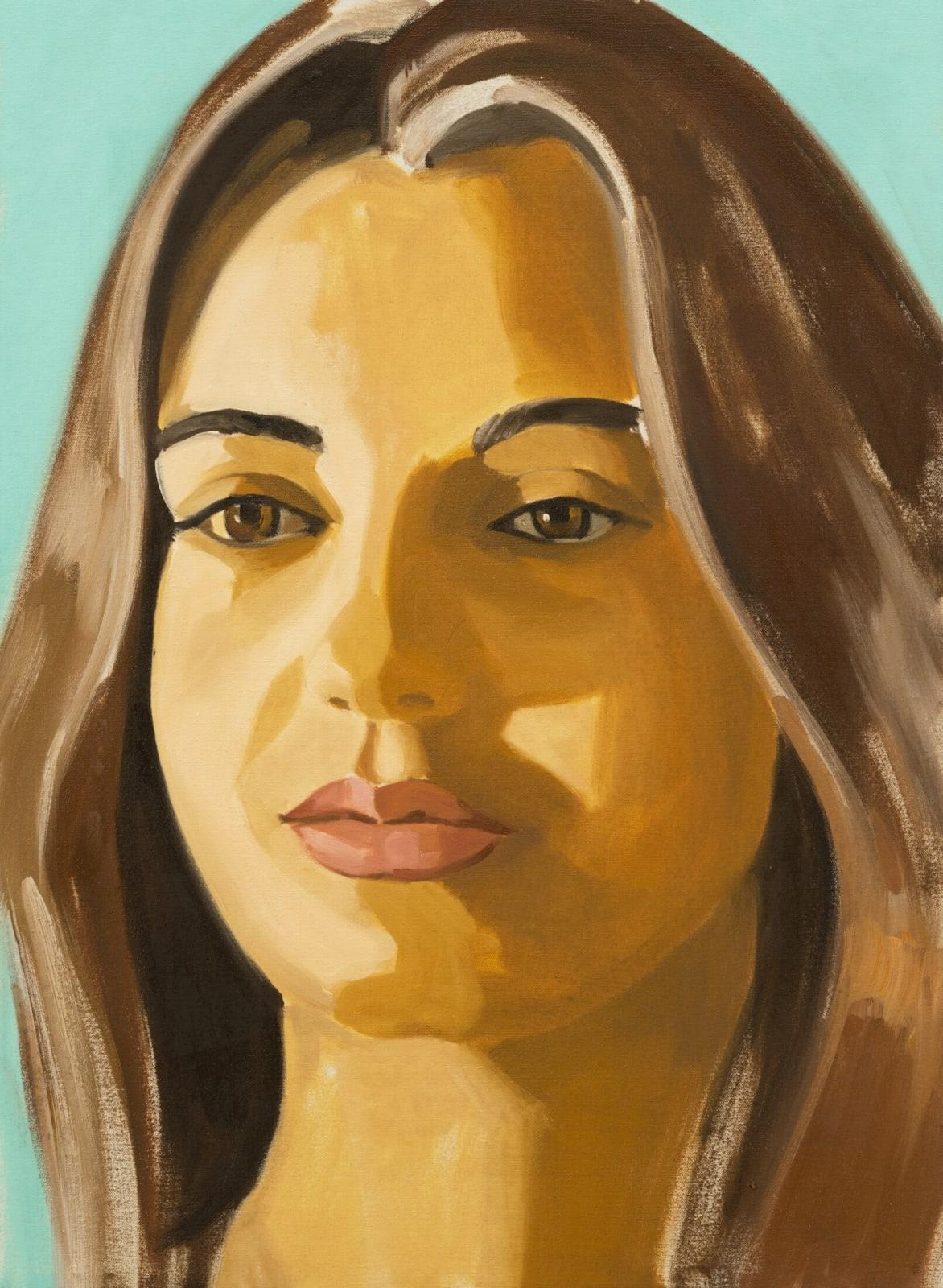 David Salle Untitled (portrait 01) 2019 oil on linen 30 x 22 inches 76.2 x 55.9 cm