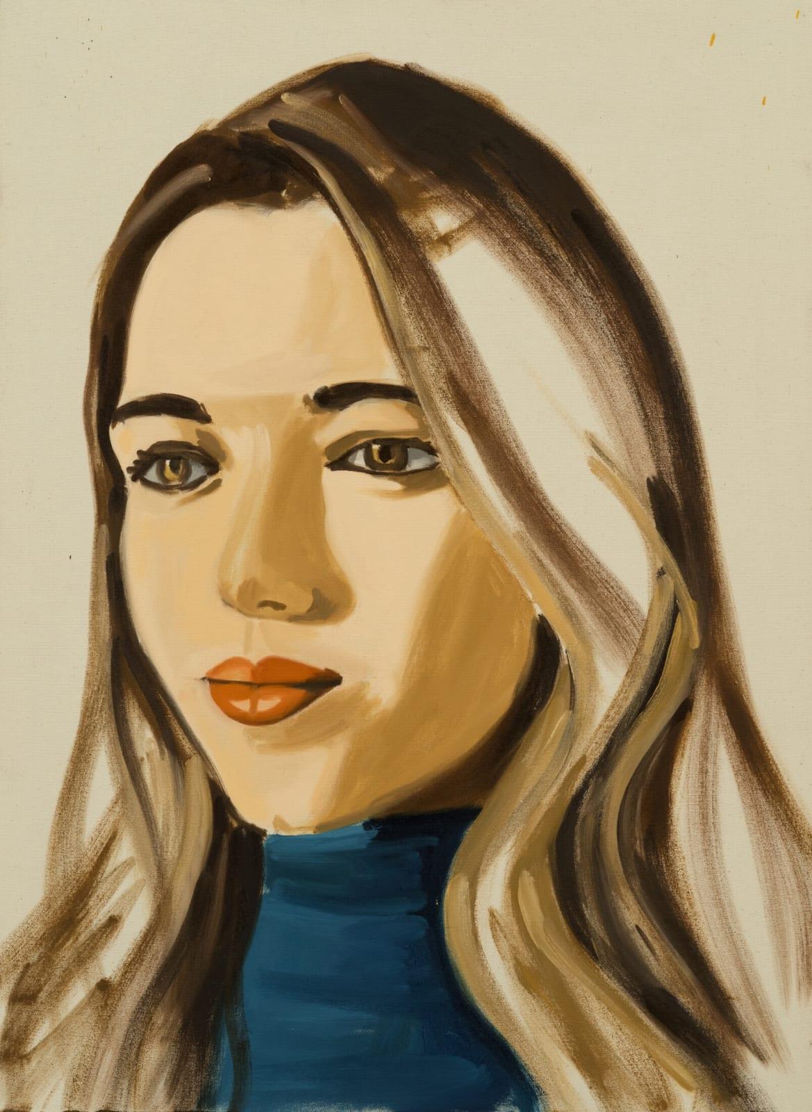 David Salle Untitled (portrait 05) 2019 oil on linen 30 x 22 inches 76.2 x 55.9 cm