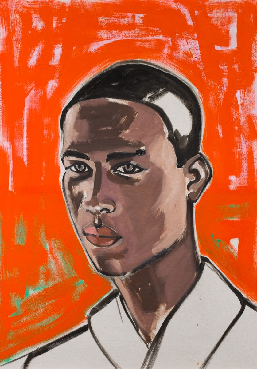 David Salle Untitled (portrait 10) 2019 oil on linen 40 x 28 inches 101.6 x 71.1 cm