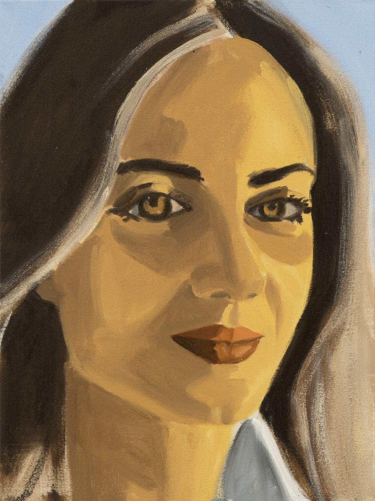 David Salle Untitled (portrait 24) 2019 oil on linen 12 x 9 inches 30.5 x 22.9 cm