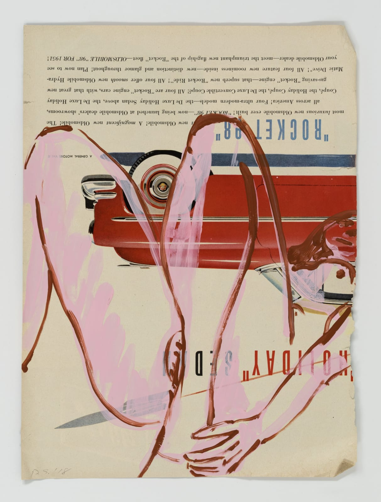 David Salle Untitled, 6 2018 flashe on paper 14 x 10 1/2 inches 35.6 x 26.7 cm