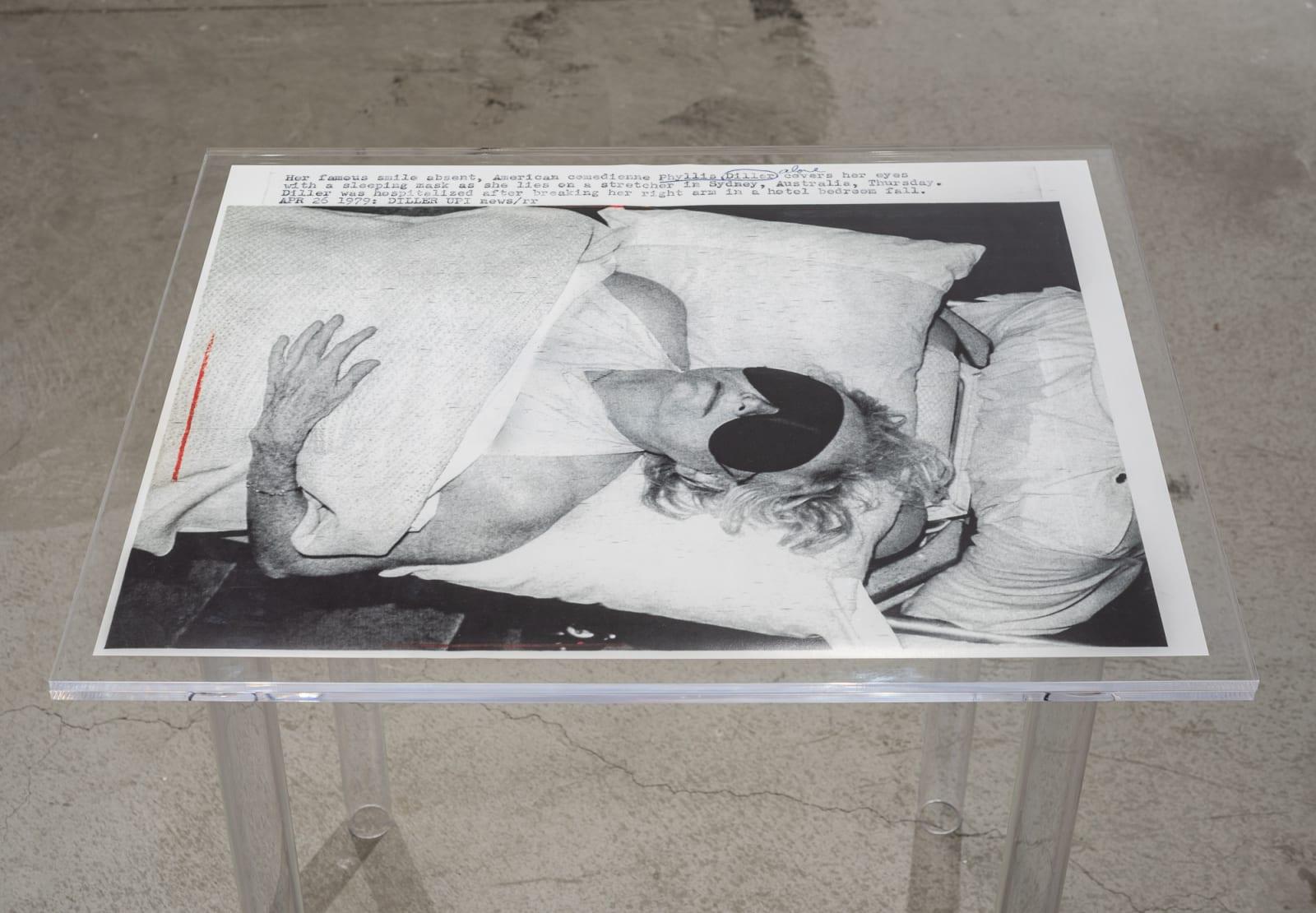 Lindsey White Fallen Comedienne, 2021 archival pigment print, plexiglass 32 x 26 x 32 inches unique