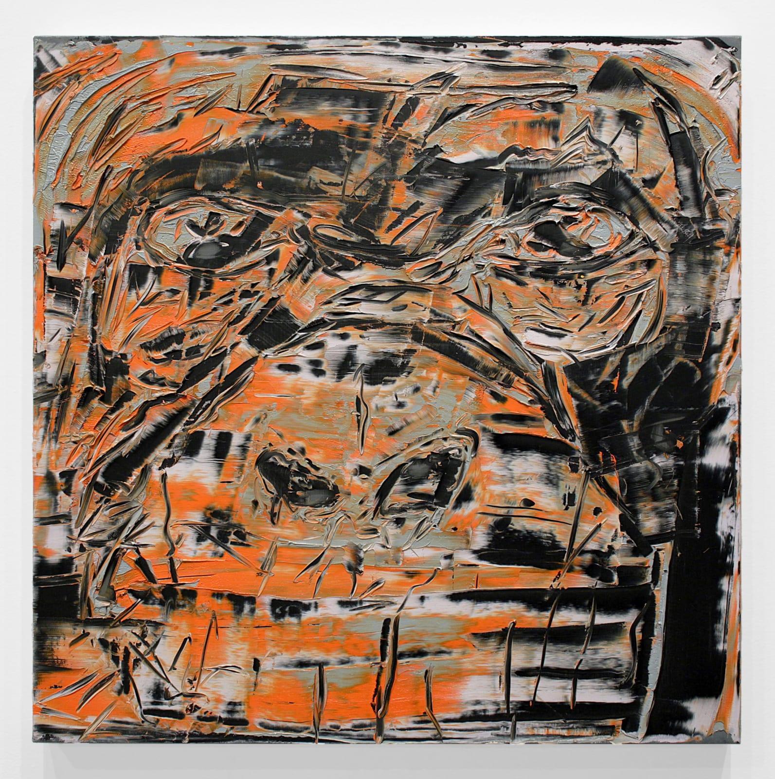 Gilad Efrat, Ape, 2013 oil on linen, 27 1/2 x 27 1/2 in