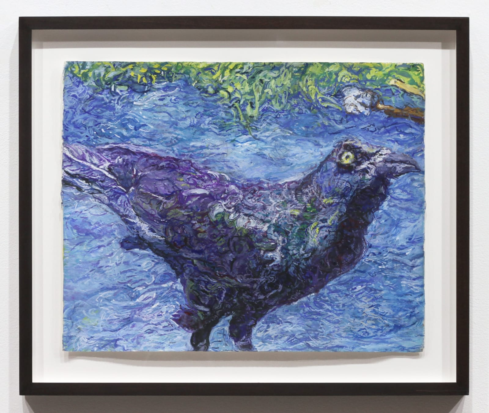 Beth Secor, Grackle, Flood, 2017 gouache, watercolor, and pencil on paper, 16 1/8 x 20 1/8 in