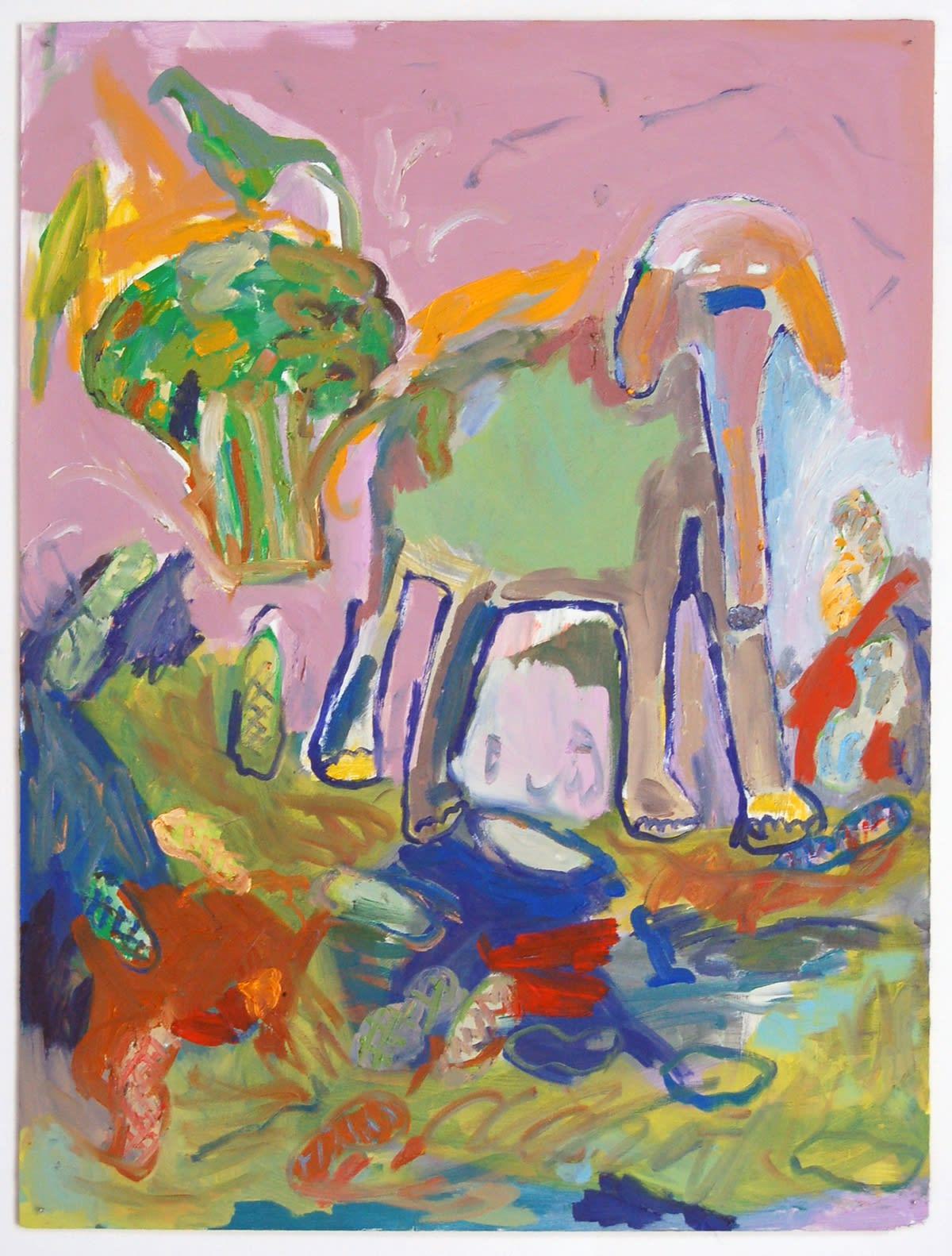 Adrianne Rubenstein, Soliloquy, 2015 oil on panel, 32 x 23 in