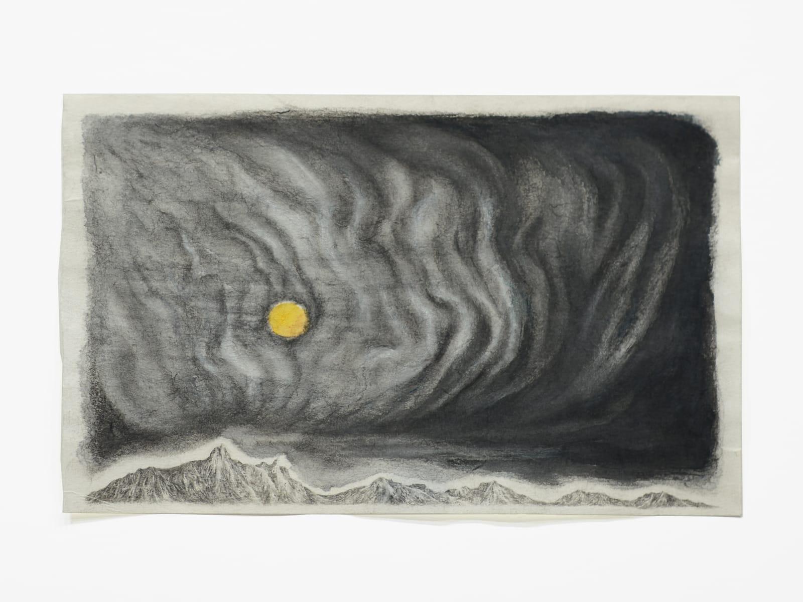 Robyn O'Neil Concern in Black, 2020 graphite, watercolor, ink 5 3/4 x 9 1/4 in (14.6 x 23.5 cm) 13 x 18 3/8 x 1 1/2 in (33 x 46.7 x 3.8 cm) framed RON 170 SOLD
