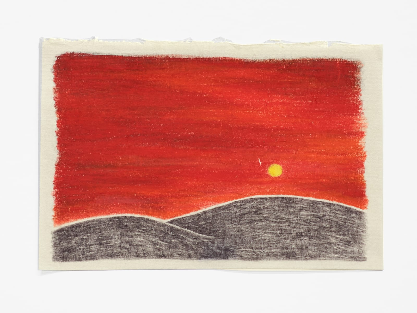 Robyn O'Neil Early on, Moon, 2020 graphite, watercolor, colored pencil 5 3/4 x 8 1/2 in (14.6 x 21.6 cm) 10 3/4 x 13 1/2 x 1 1/2 in (27.3 x 34.3 x 3.8 cm) framed RON 171 SOLD
