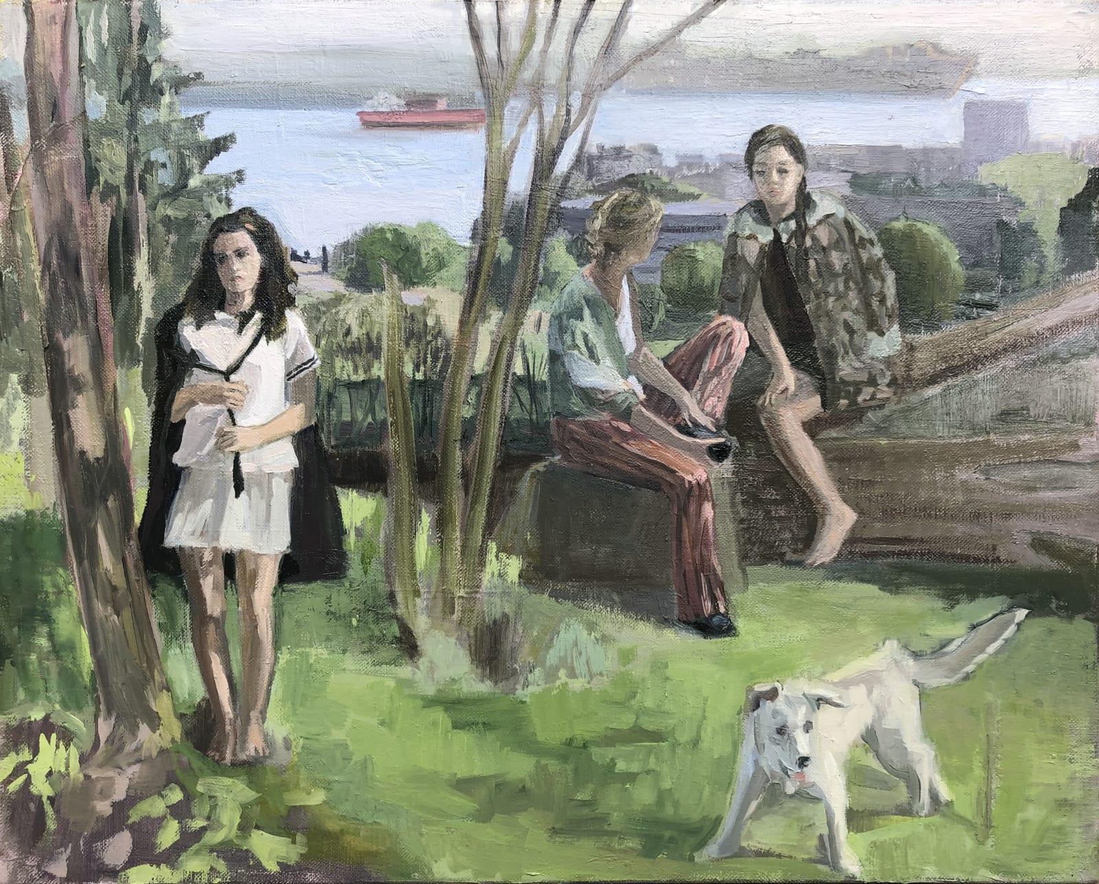 Vera Iliatova, Encounter, 2020 oil on canvas, 16 x 20 in