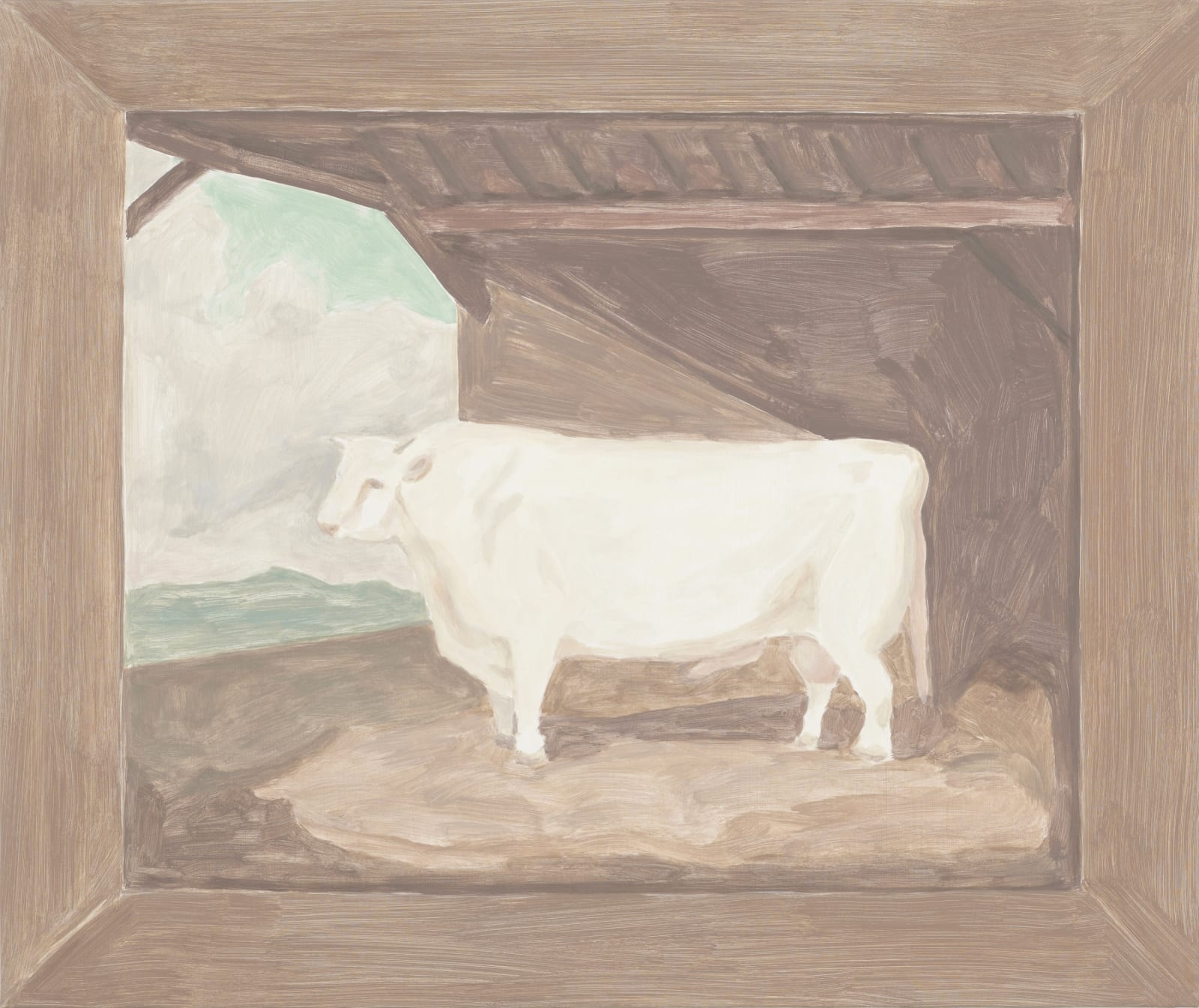 Francesca Fuchs, Bull, 2012 acrylic on canvas over board, 29 x 34 1/2 in