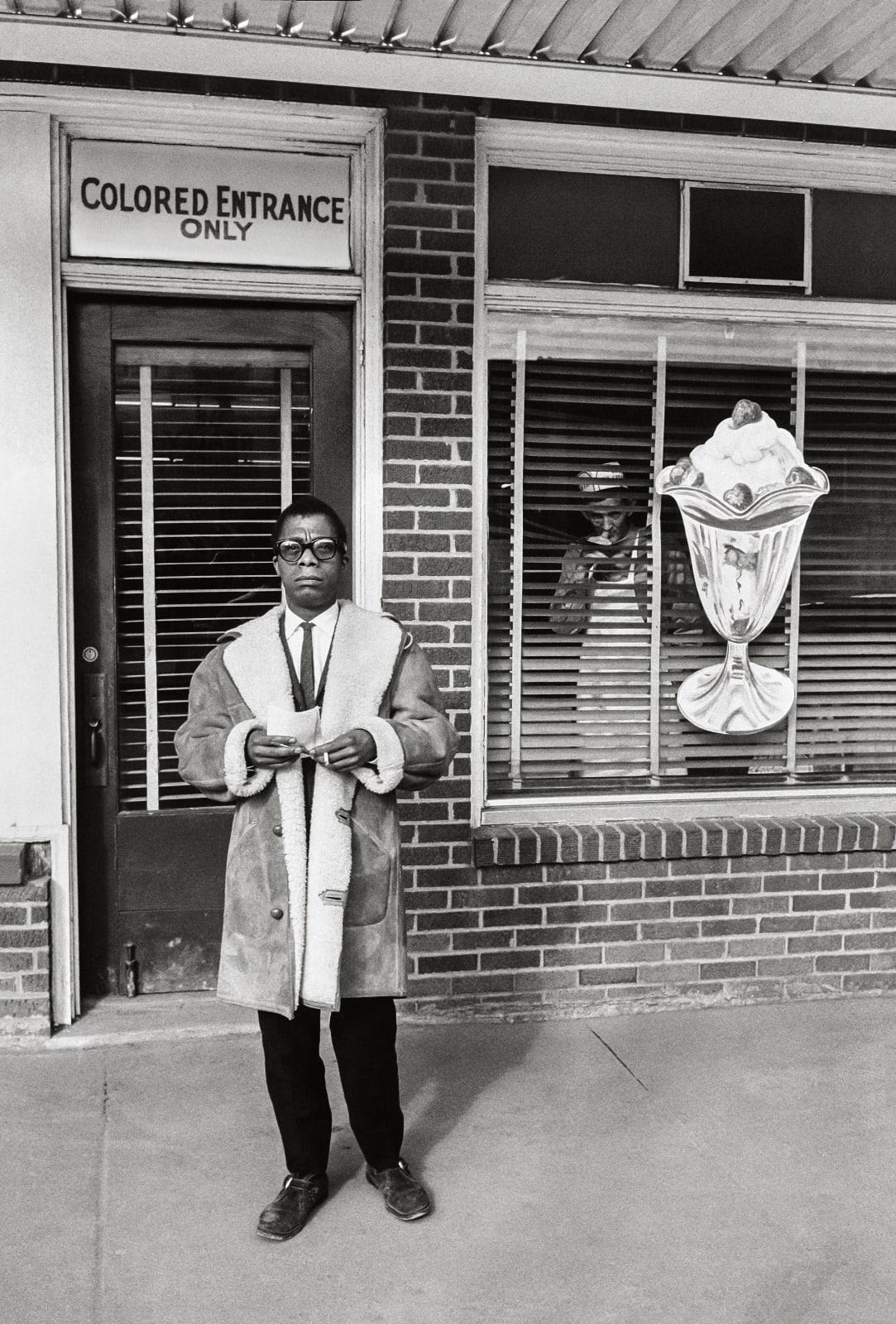 Steve Schapiro James Baldwin, Colored Entrance Only, Durham, North Carolina, 1963