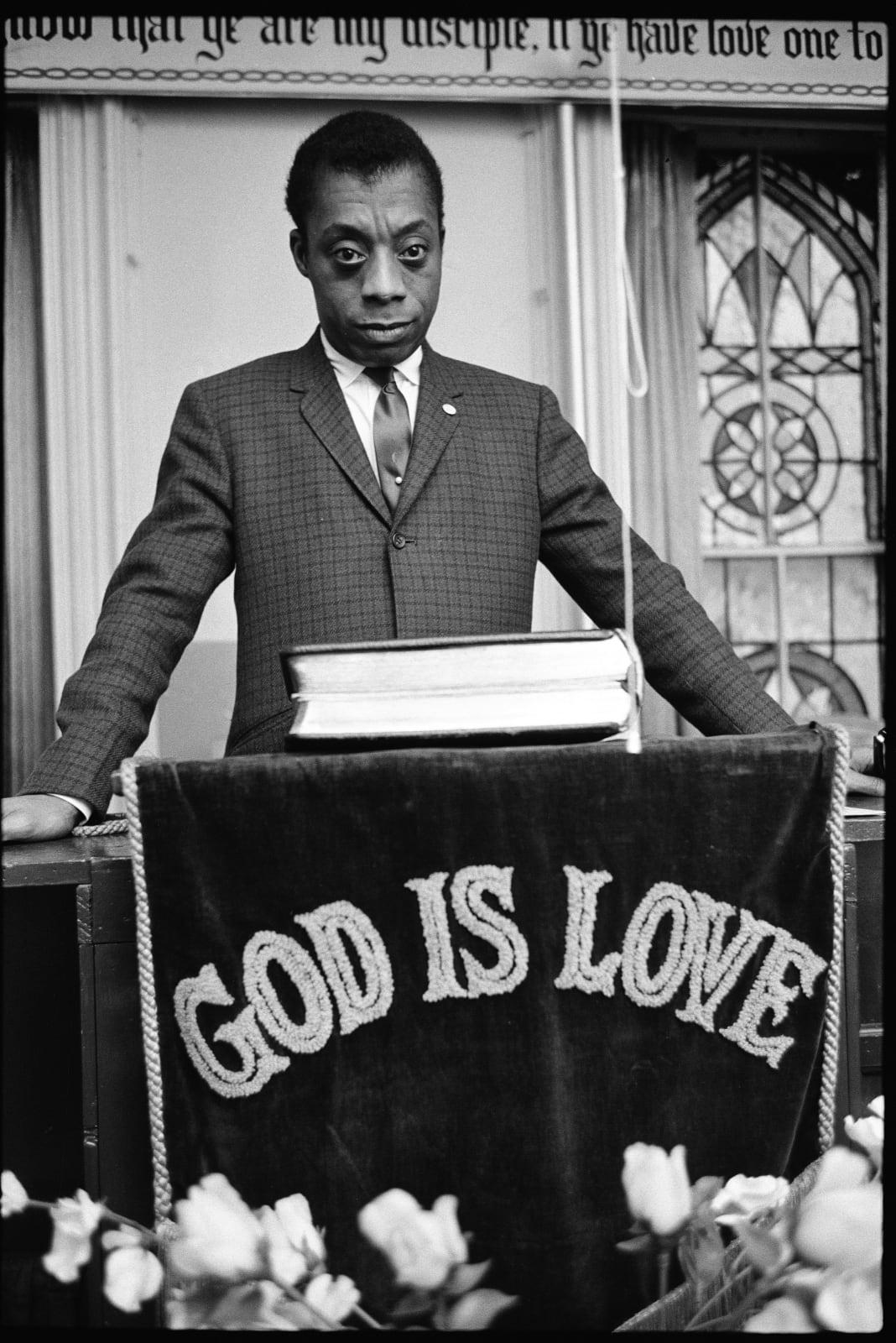 Steve Schapiro James Baldwin, God Is Love, Harlem, 1963