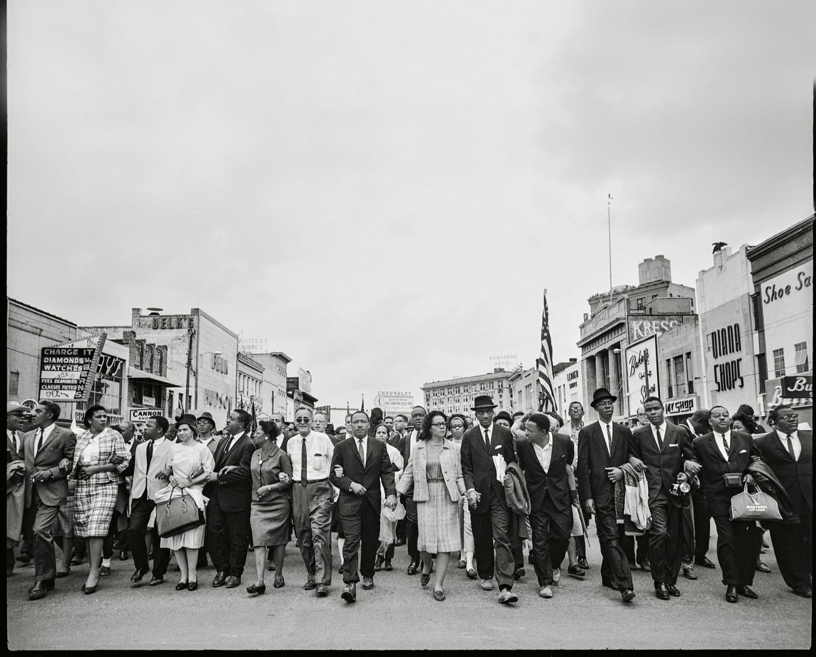 Steve Schapiro Selma March Entering Montgomery (Martin Luther King, Jr., Coretta Scott King, Rosa Parks and Others), 1965