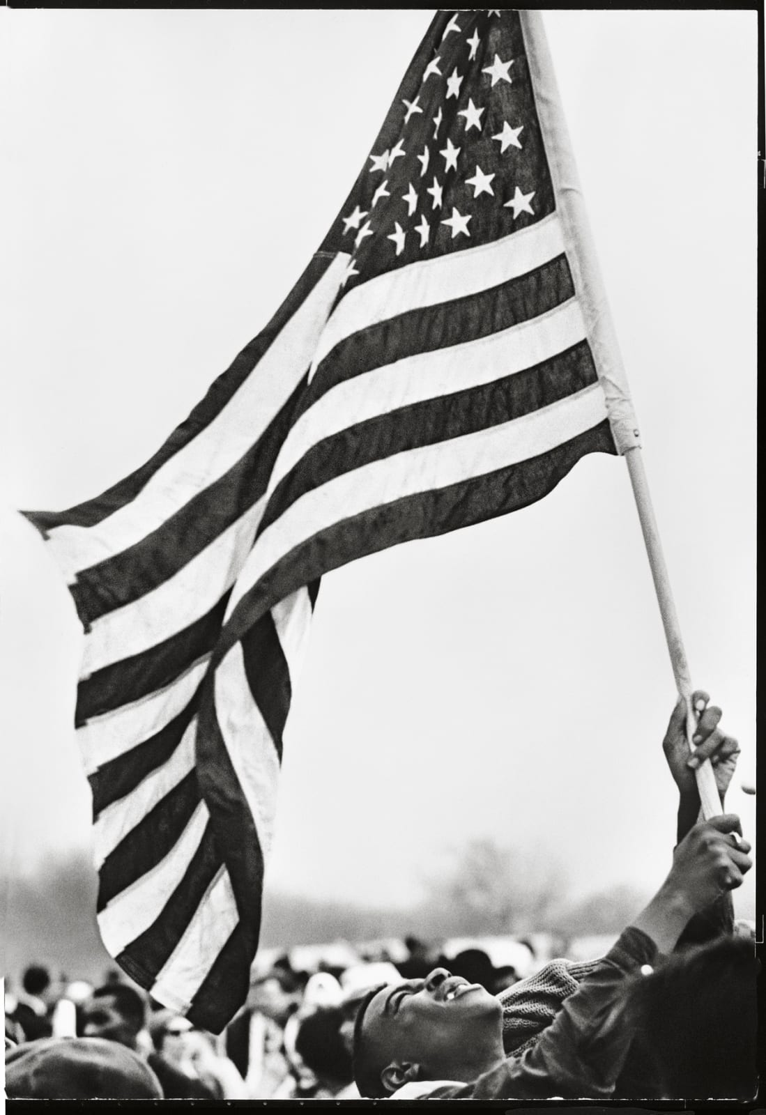 Steve Schapiro Flag, The Selma March, 1965