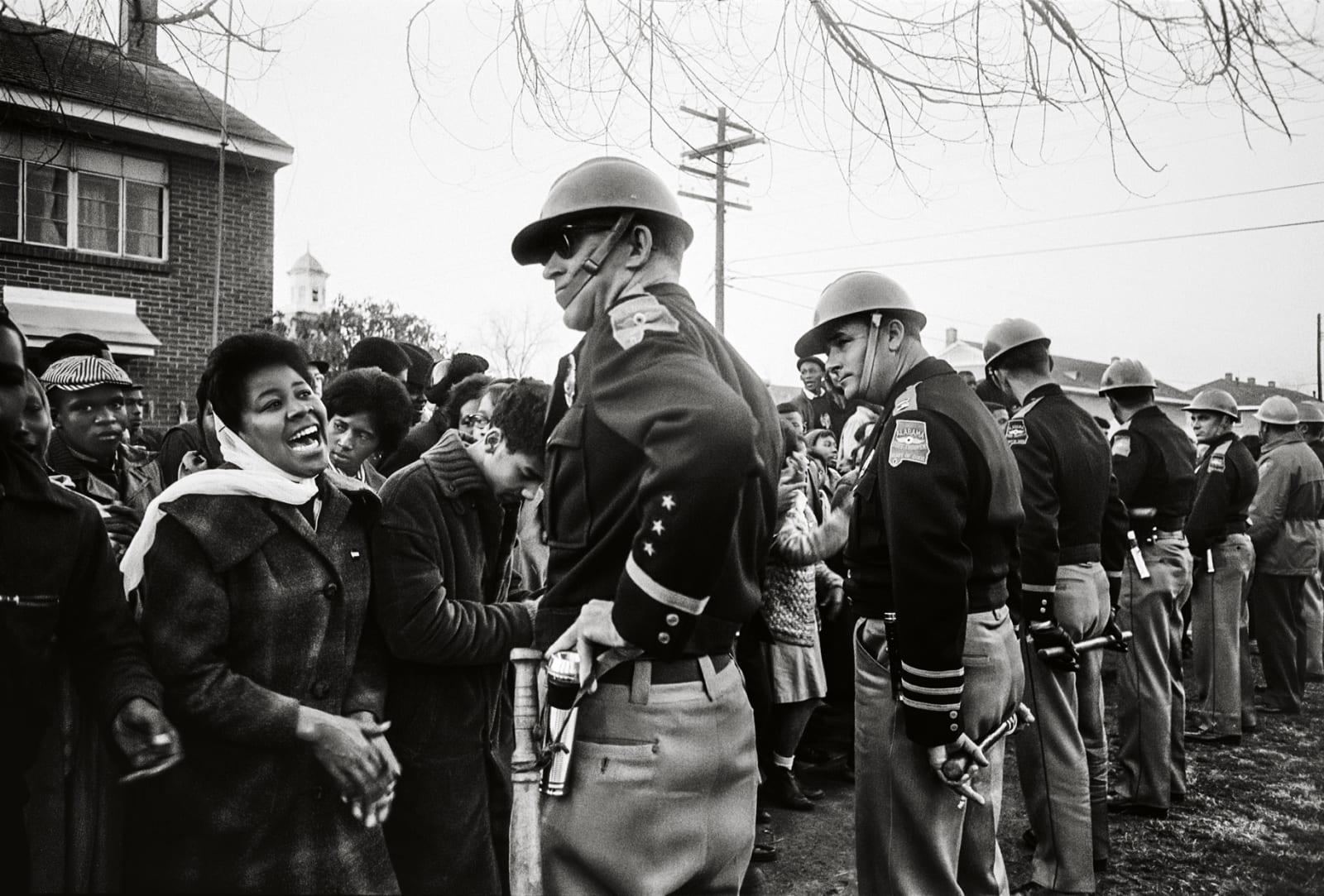 Steve Schapiro Demonstrator and Troopers, Selma, 1965