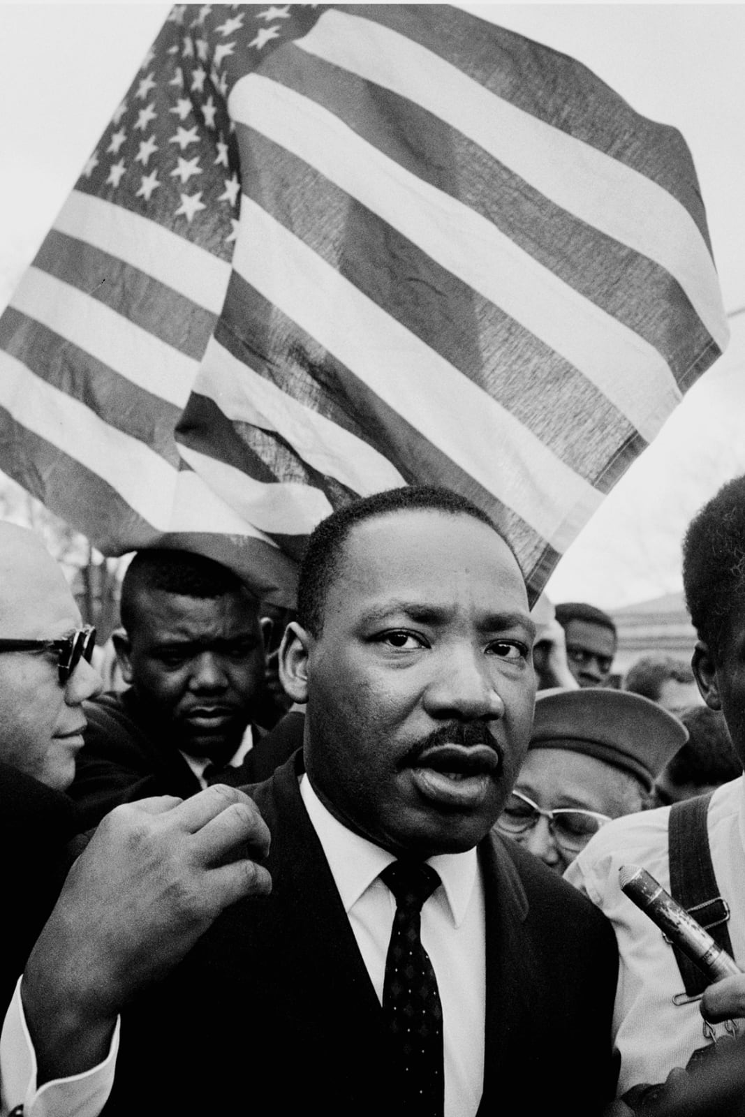 Steve Schapiro Martin Luther King Jr. (with Flag), Selma March, 1965