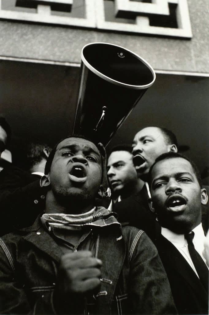Steve Schapiro Martin Luther King Jr. Megaphone with John Lewis and Andrew Young, 1965