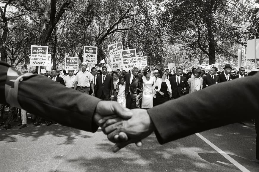 Steve Schapiro Jackie Robinson, Rosa Parks, and Other Activists March on Washington, 1963