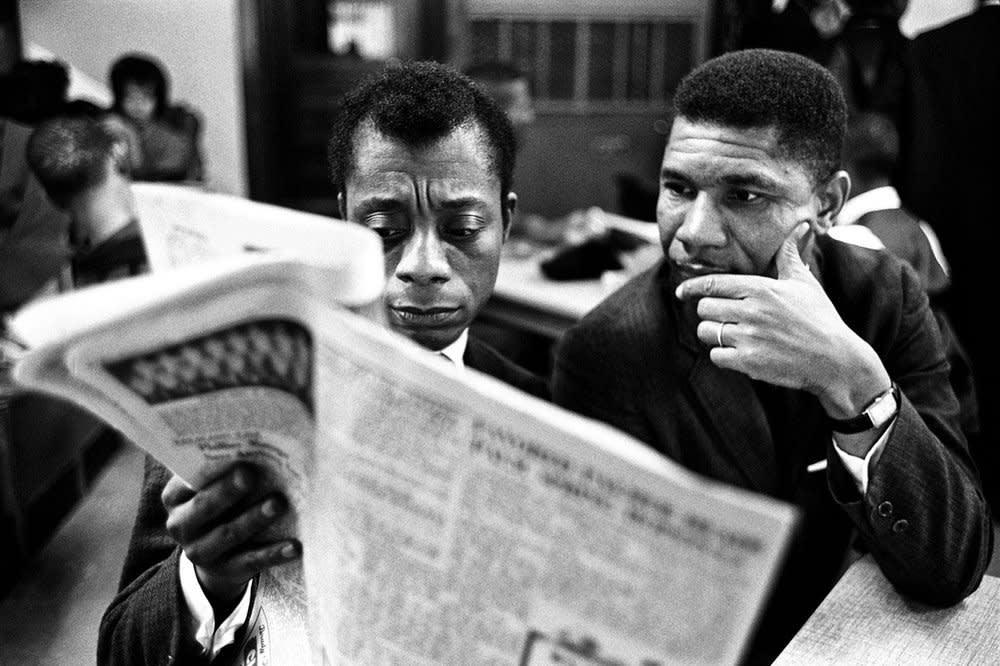 Steve Schapiro James Baldwin and Medger Evers, 1963