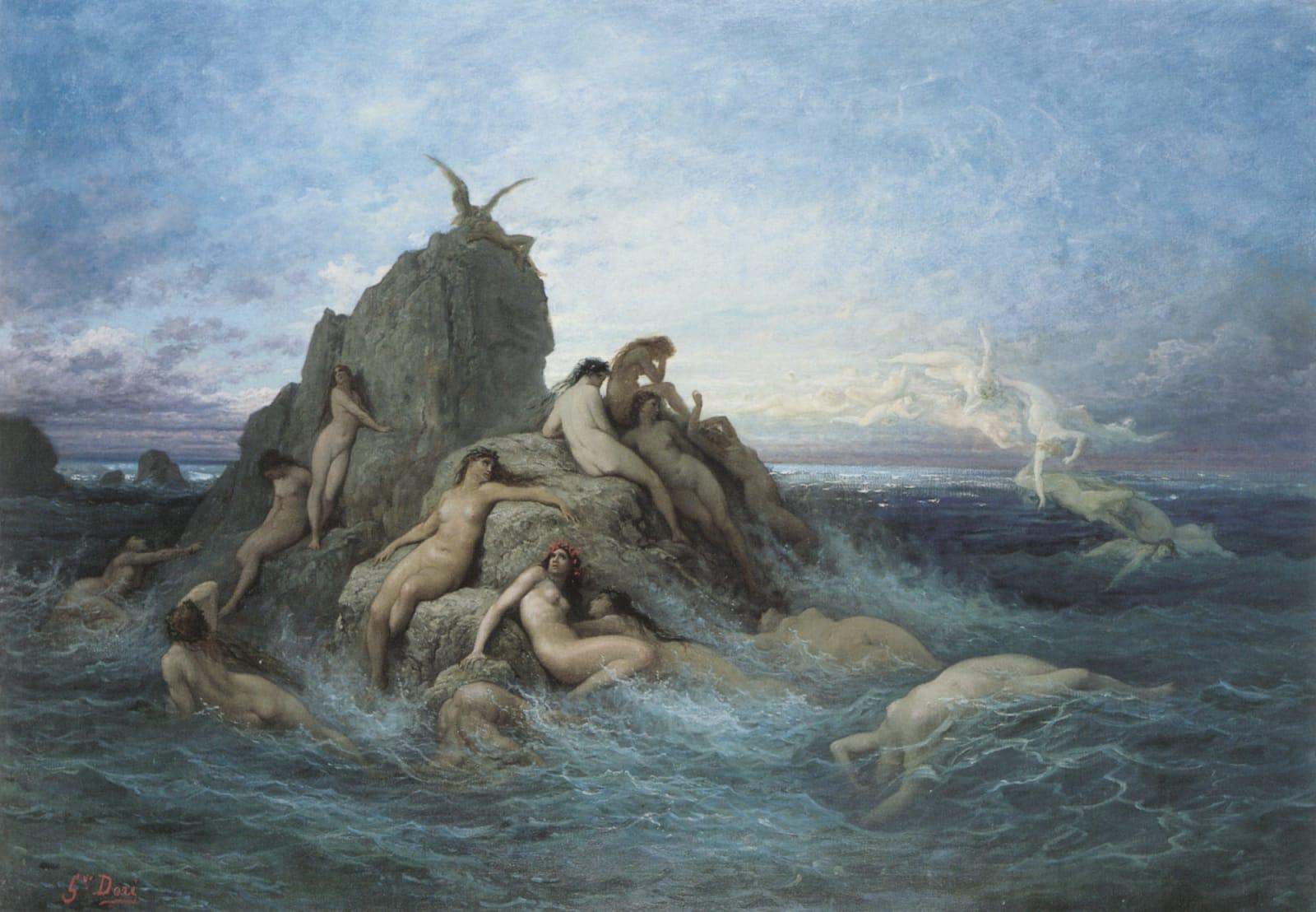 Gustave Doré, Les Océanides (Les Naiades de la mer), c. 1860s