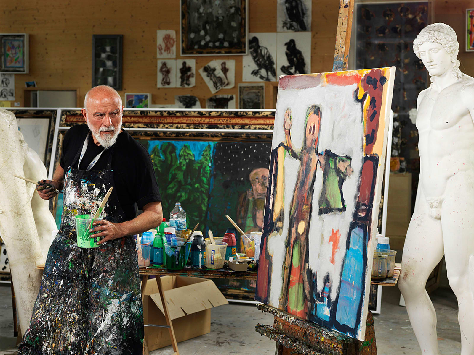 Markus Lüpertz in his studio photo by Andreas Jung