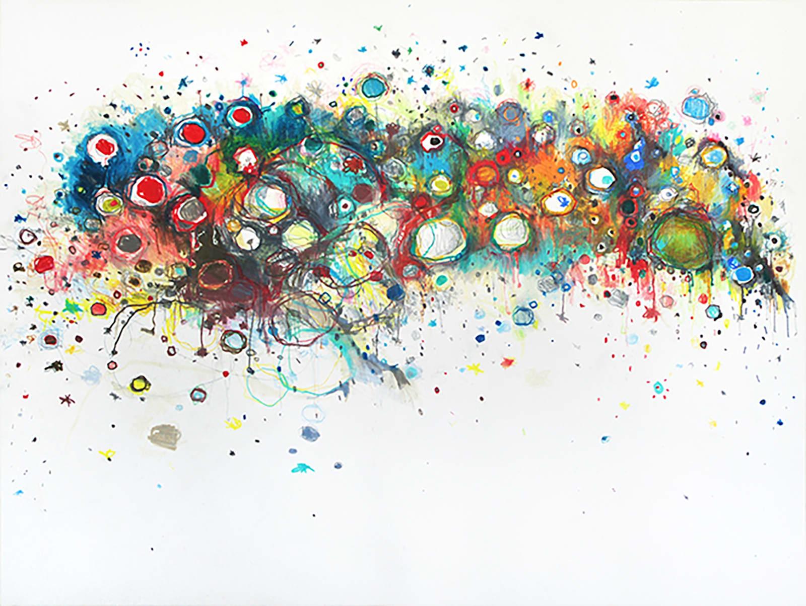Clara Fialho. Untitled #283, 2015. Pencil on Paper. 12 × 16 in.