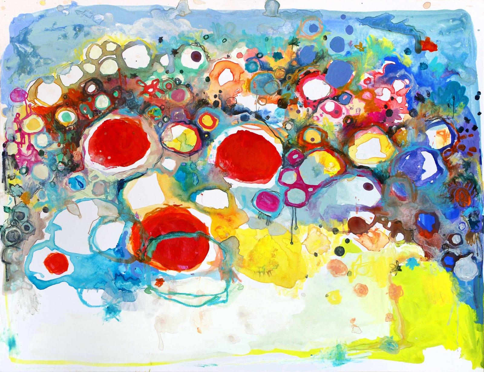 Clara Fialho. Untitled #302, 2016. Mixed Media on Paper. 10 × 13 in.