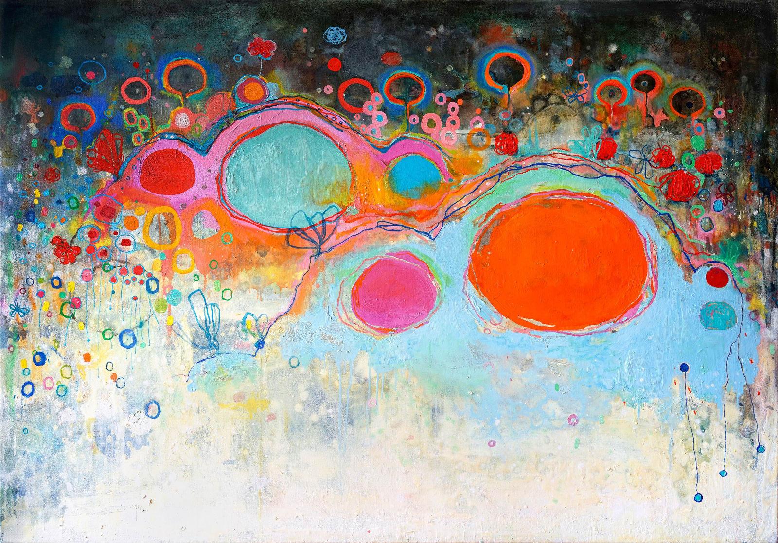 Clara Fialho. Dreams of Falling, 2020. Oil on Canvas. 48 × 60 in.