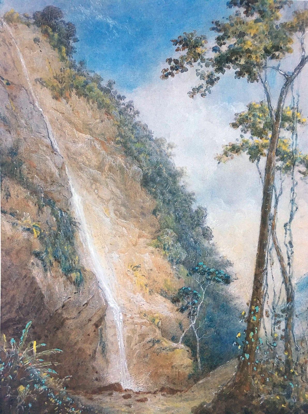 Michel-Jean Cazabon Maraccas Waterfall I 1849 Watercolor 10 1/2 x 14 1/2 inches Collection of William Burnley; Fane-Gladwin