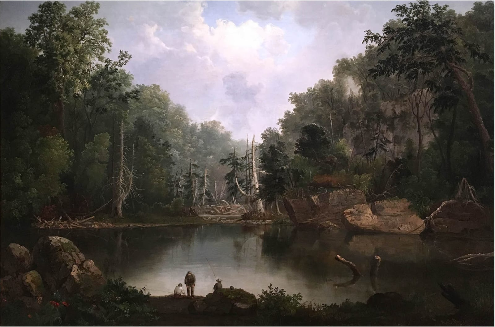 Robert S. Duncanson Blue Hole, Flood Waters, Little Miami River 1851 Oil on Canvas 29 1/4 x 42 1/4 inches Cincinnati Art Museum, gift of Norbert Heerman and Arthur Helbig