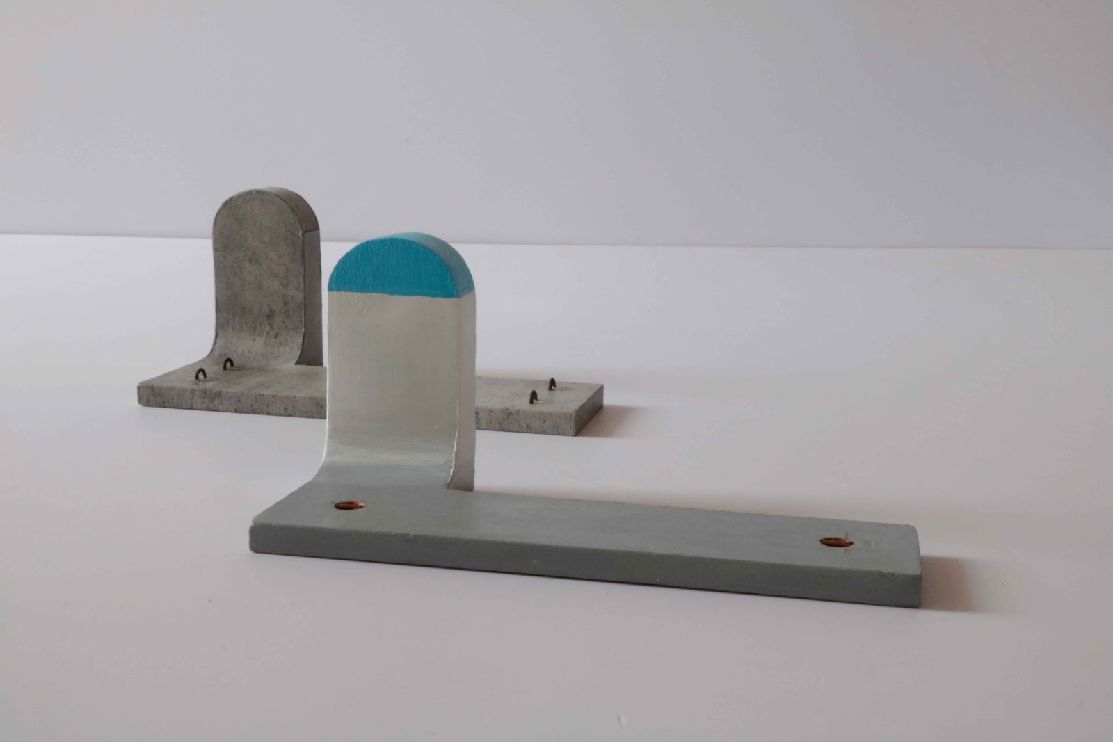 MRUGEN RATHOD Maquettes for Journey to J-point , 2020 | Frottage and acrylic paint on wood | 3.5 x 3.5 x 7 in. each
