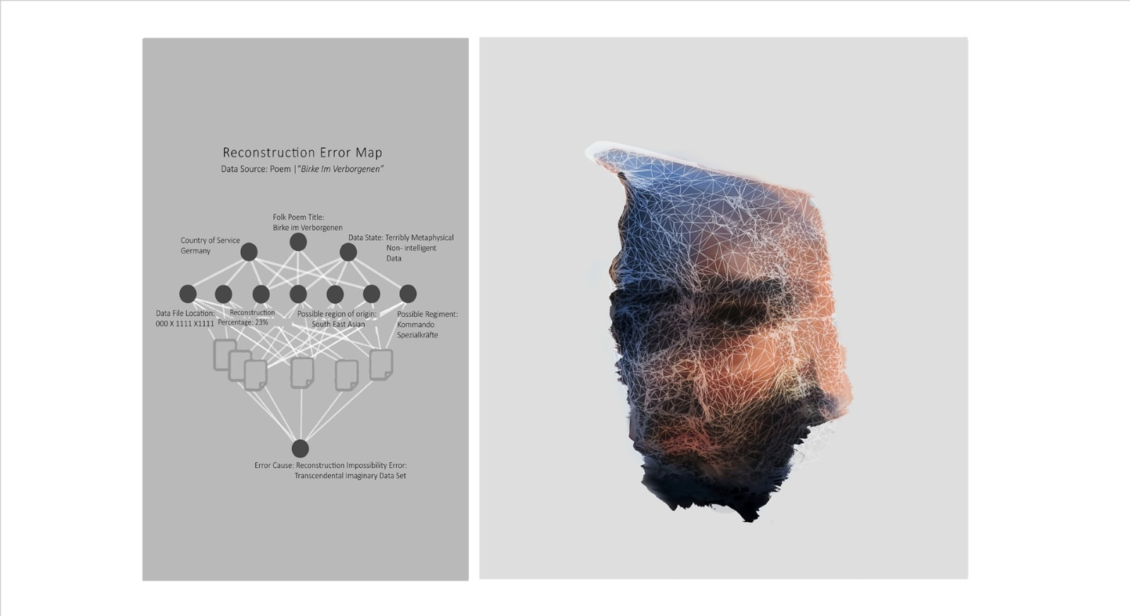 MOONIS AHMAD SHAH Some Other People Were Here Too, 2018 Archival prints on archival Epson paper, algorithm reconstruction and text 15.7 x 23.5 in. Edition 3/3 ₹ 60,000.00